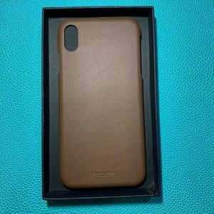 Coach IPhone XS Max Leather Case 📱
